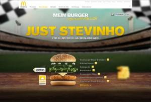 Webseite von McDonald's - Mein Burger
