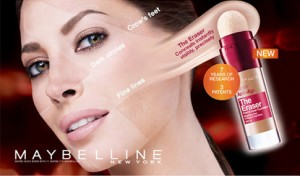 Maybelline-Werbung mit Christy Turlington