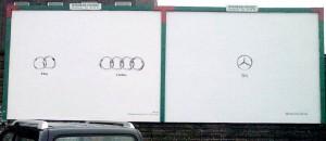 Mercedes ergänzt die Kampagne von Audi