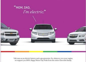 Anzeige von General Motors