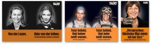 Drei Sixt-Werbe-Motive mit Politikern