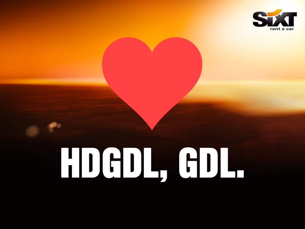 Sixt: HDGDL, GDL