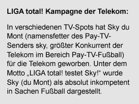 LIGA toal!-Kampagen der Telekom