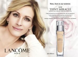 Lancome-Werbung mit Julia Roberts