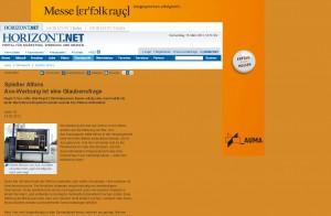 Webseite: Horizont.net mit Wallpaper