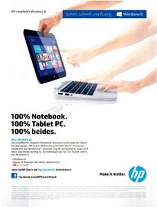 Anzeige von Hewlett Packard